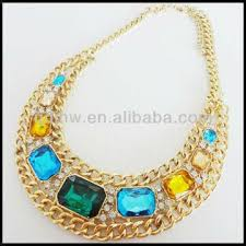 necklace types images Jhw glass bead necklace gold chain bib necklace necklace clasp jpg