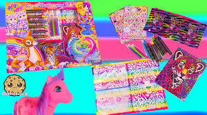 lisa frank rainbow art super stationery set unboxing and tattoos