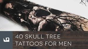 40 skull tree tattoos for