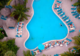 beautiful aerial photography of beaches and swimming pools by gray