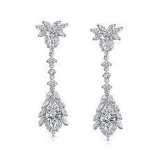 gatsby inspired cz art deco bridal chandelier earrings