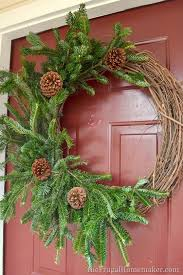 grapevine evergreen wreath made with free tree cuttings