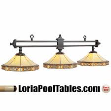 3 shade pool table light mf b56 mission filigree stained glass 3 shade pool table light