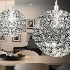 Esszimmertisch Glas Chrom Luxus Decken Lampe Rund Kristall Hänge Leuchte Esstisch
