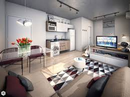 Apartment Interior Design With Design Inspiration  Fujizaki - Small one room apartment interior design inspiration
