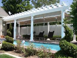 Poolside Designs Custom Pergola Design 4020 Exterior Custom Attached Poolside