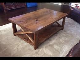 Plans For Building A Wood Coffee Table by How To Make A Rustic Coffee Table With A Bottom Shelf Ana White