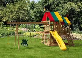 pleasant times big backyard swing sets play mor swing sets