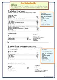 hotel reservation worksheet free esl printable worksheets made
