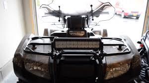 12 Light Bar 2015 Honda Rancher 12 Inch Led Light Bar Installed Youtube