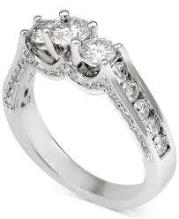 channel set engagement rings three channel set engagement ring 1 1 2 ct t w