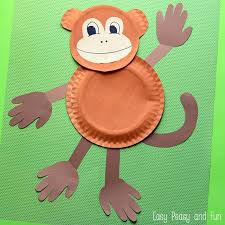 Paper Plate Monkey Craft - paper plate monkey paper plate crafts for easy peasy
