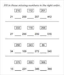 22 sample missing numbers worksheet templates free pdf documents