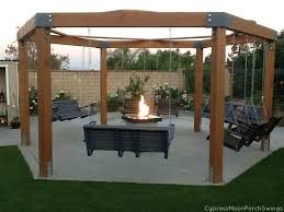 Firepit Swing Porch Swing Pit Pergolas Swings And Backyard