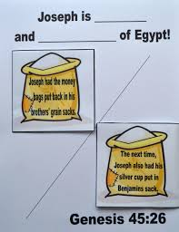 bible fun for kids genesis joseph reunited with his family in egypt
