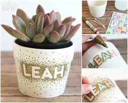 unique plant pots sharpie diy dot flower pot craft diycandy com
