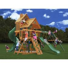 exterior furniture gorilla playset wooden swing set for outdoor