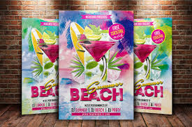 summer beach party flyer flyer templates creative market