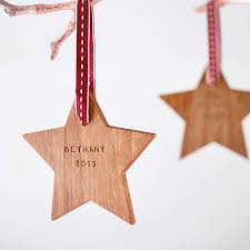 personalised first christmas star decoration star decorations
