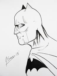 batman profile sketch by jsimonart on deviantart