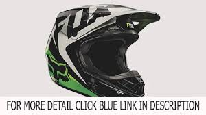 green motocross helmet slide fox racing v1 race mx helmet black green large deal