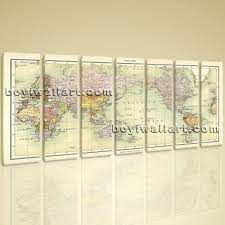 World Map Canvas Art by World Map Global Atlas Hd Print On Canvas Modern Wall Art Home Decor