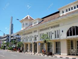 dutch colonial building in the centre of bandung city west java