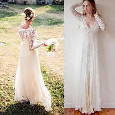 flowy long sleeve ivory wedding dress c40 about cheap wedding