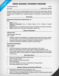 resume template for students high school resume template writing tips resume companion