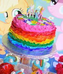 At Home Cake Decorating Ideas Interior Design Rainbow Themed Birthday Party Decorations Home