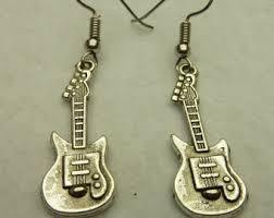 Beaded Chandelier Earrings U2013 Tracy Guitar Earrings Guitar Stud Earrings Electric Guitar
