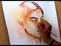simple watercolor portrait painting how to paint a portrait in