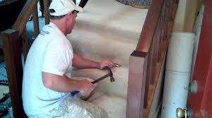 How Much To Replace Carpet With Laminate Flooring How To Install Carpet On Stairs Youtube