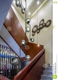 modern luxury interior home design villa stairs decoration stock