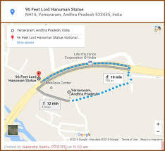 Address Map Google Map And Address Is Created For 96 Feet Lord Hanuman Statue