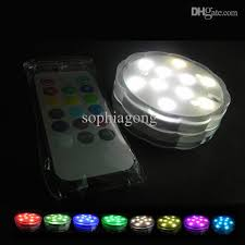 flower rgb submersible wireless remote led light rgb dimmable