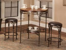 3 Piece Dining Room Set by Spiral 3 Piece Counter Height Dinette Cramco Furniture Cart