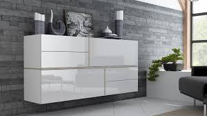 wohnzimmer sideboard sideboard in weiß mit hochglanz fronten ist klassiker