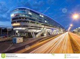 Frankfurt Airport Map Futuristic Building At The Frankfurt Airport Editorial Stock Image