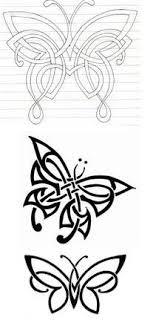 celtic butterfly tat i like the bottom one pattern al instincts