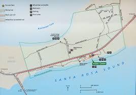 Florida Map Gulf by Gulf Islands National Seashore Florida Naval Live Oaks Area