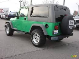 2005 jeep unlimited 2005 electric lime green pearl jeep wrangler unlimited 4x4