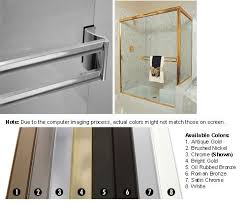 Sliding Shower Screen Doors Chrome Sliding Frameless Shower Door Towel Bar