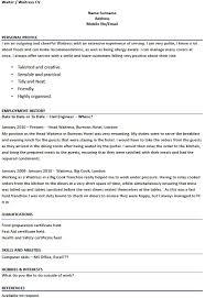 outstanding waitress resume exle 6 waiter cv resume ideas popular dissertation hypothesis writer for hire for phd george