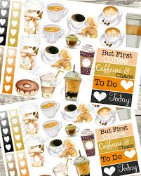 coffee planner stickers printable but first cofffe planner stickers coffee stickers coffee cup