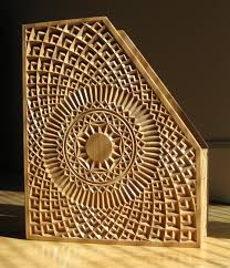 geometric wood sculpture wood carving a winning magazine holder with a cnc woodworking