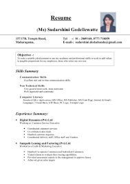 Non Technical Skills Resume Sudarshini Cv