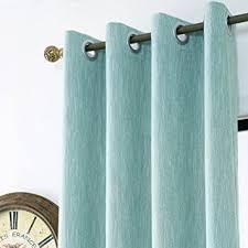 Green Grommet Curtains Amazon Com Melodieux Elegant Cotton Window Blackout Curtains