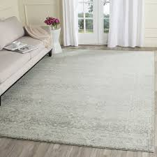 Ivory Area Rug Safavieh Evoke Collection Evk270z Vintage Silver And