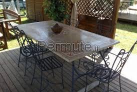 tavoli e sedie da giardino usati tavolo in ottime condizioni con sedie in metallo usato in